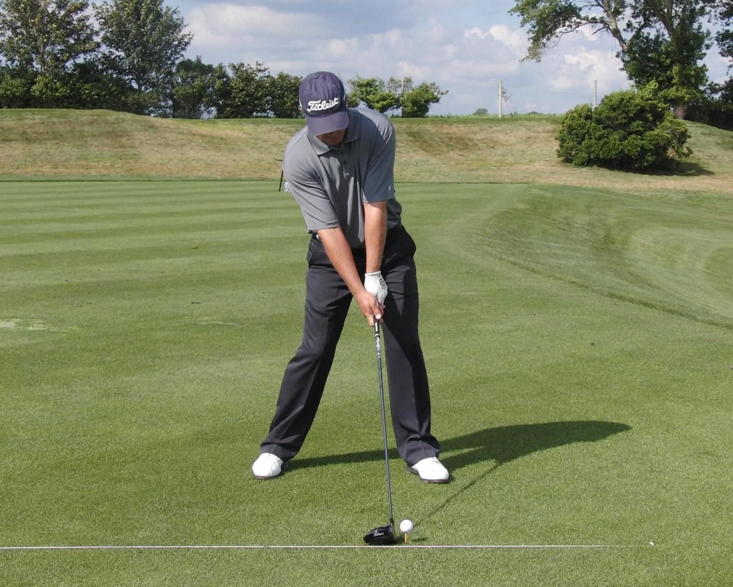 Hitting up or down heres how to set up golf tips golf