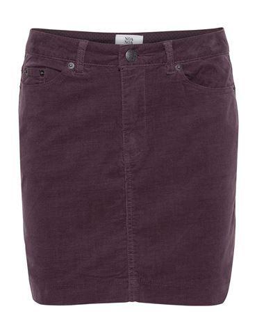 Kort nederdel i babyfløjl - Lilla