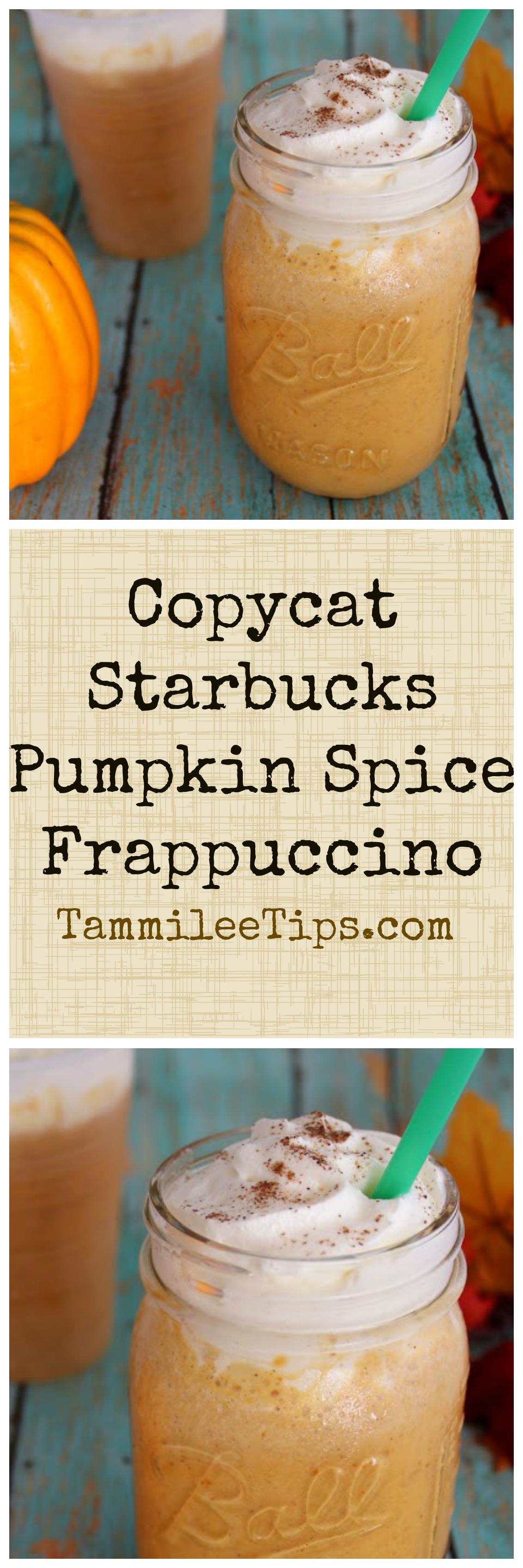 How to make a Copy Cat Starbucks Pumpkin Pie Frappuccino