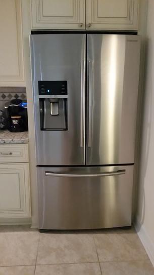 Samsung 22 5 Cu Ft Food Showcase French Door Refrigerator In