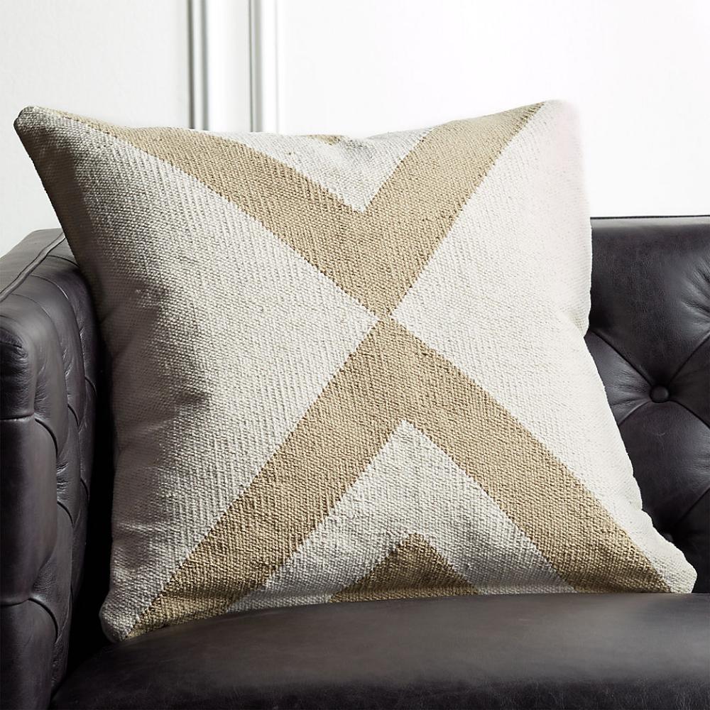 Modern Accent Pillows CB2 Linen pillows, Hand woven