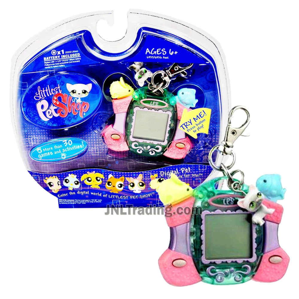 Year 2007 Littlest Pet Shop Digital Pets Care For Me Series Virtual Game Siamese Cat With Charms Clip Plus 30 Games And Activities In 2020 Littlest Pet Shop Pet Shop Pets