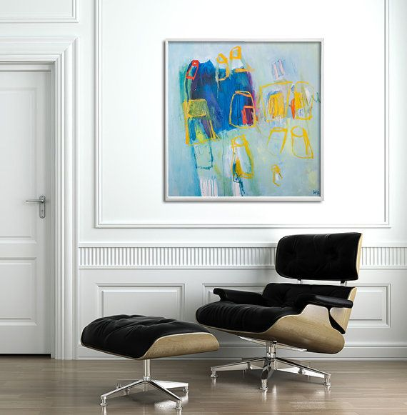 Abstract Giclee print from Large abstract Wall Art, Canvas Art, Acrylic Painting, Canvas Painting, Blue Painting, Yellow, Duealberi #abstractpainting #homedecor #abstractart #acrylicpainting #minimalistpainting #largeabstract #duealberi #interiorstyling #paintings #modernart #interiors #interiordesign #hotelart #canvasart #madeinitaly #setdecor #homeinspiration #housedesign #designlife