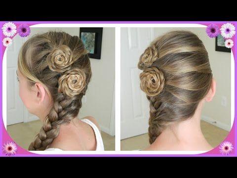 Flower Accented Side French Braid Spring Hairstyles Bonita Hair