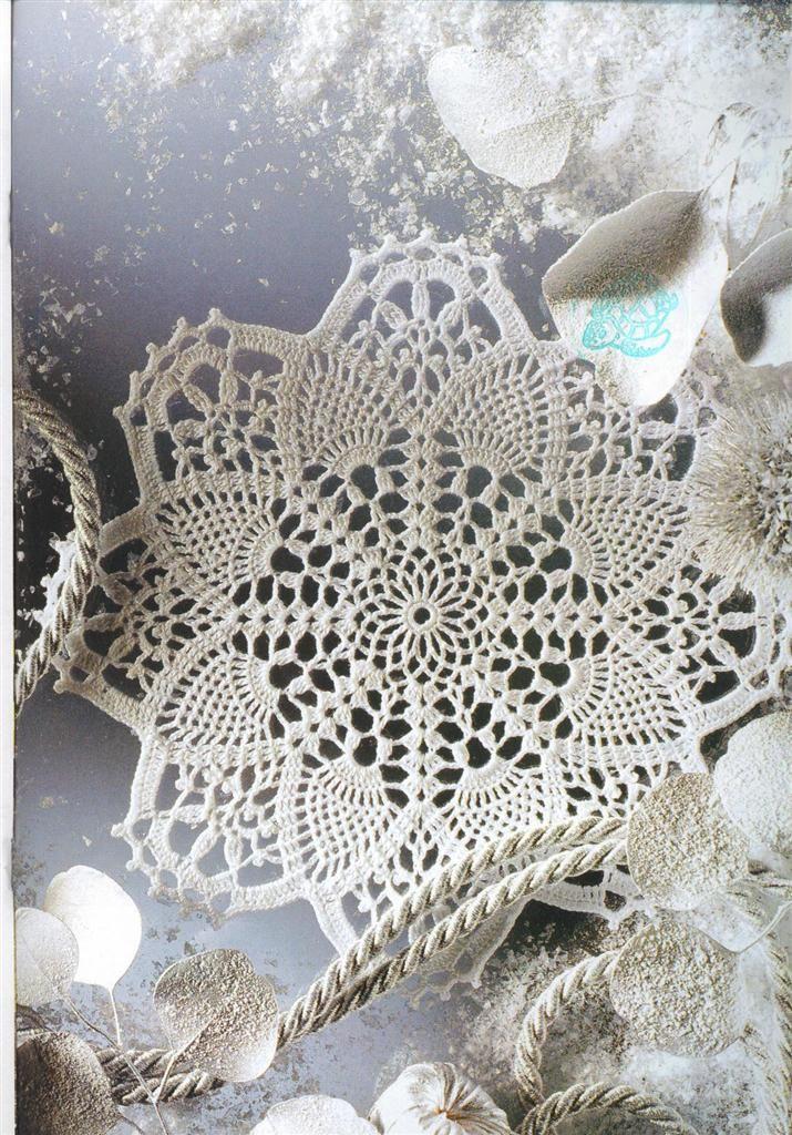 Hooked on crochet: Paninho branco site includes chart. | doilies ...