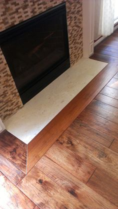 Hardwood Transition Fireplace Google Search With Images