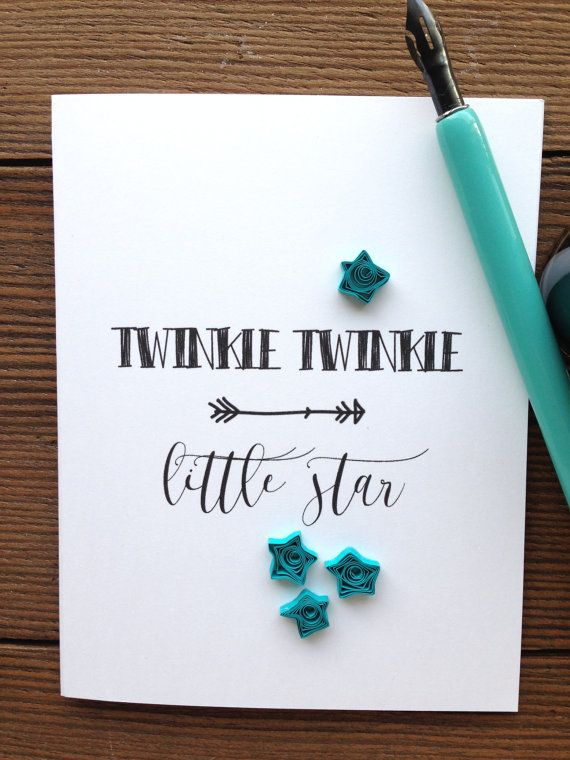 Quilled stars greeting card twinkle twinkle little star quilled stars greeting card twinkle twinkle little star quilled teal stars made in canada m4hsunfo