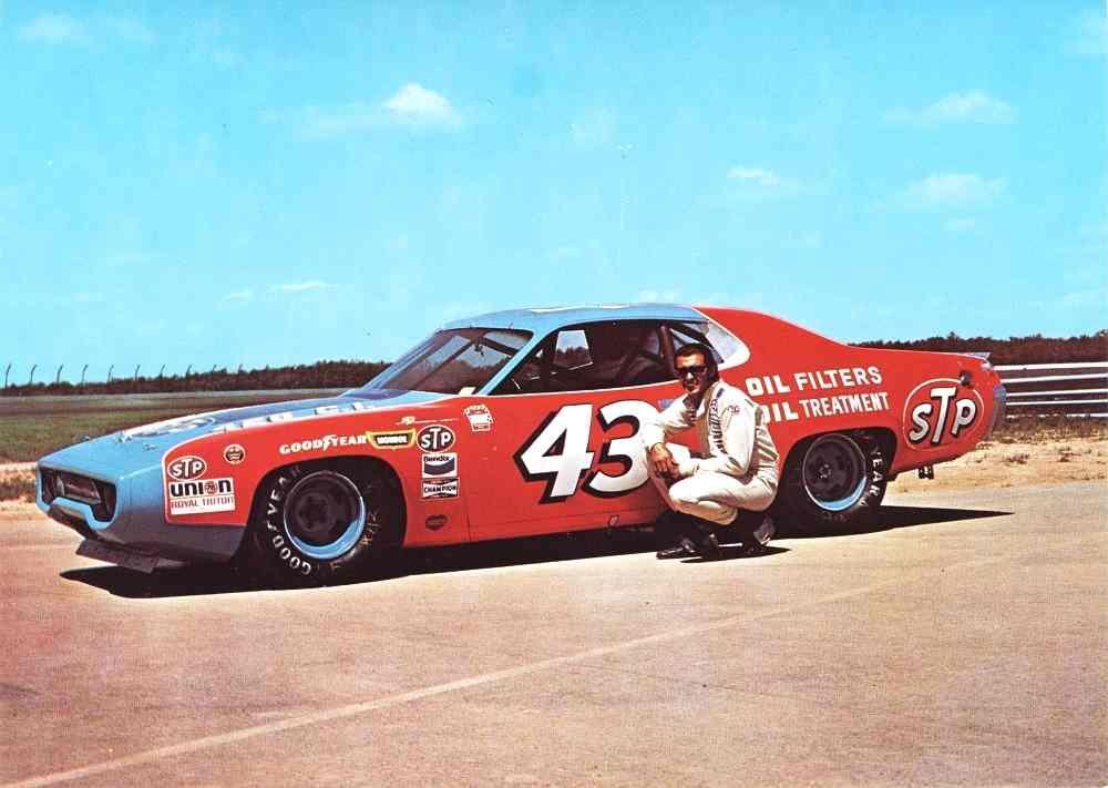1971 STP RICHARD PETTY VINTAGE DODGE CHARGER NASCAR DAYTONA STICKER DECAL NOS