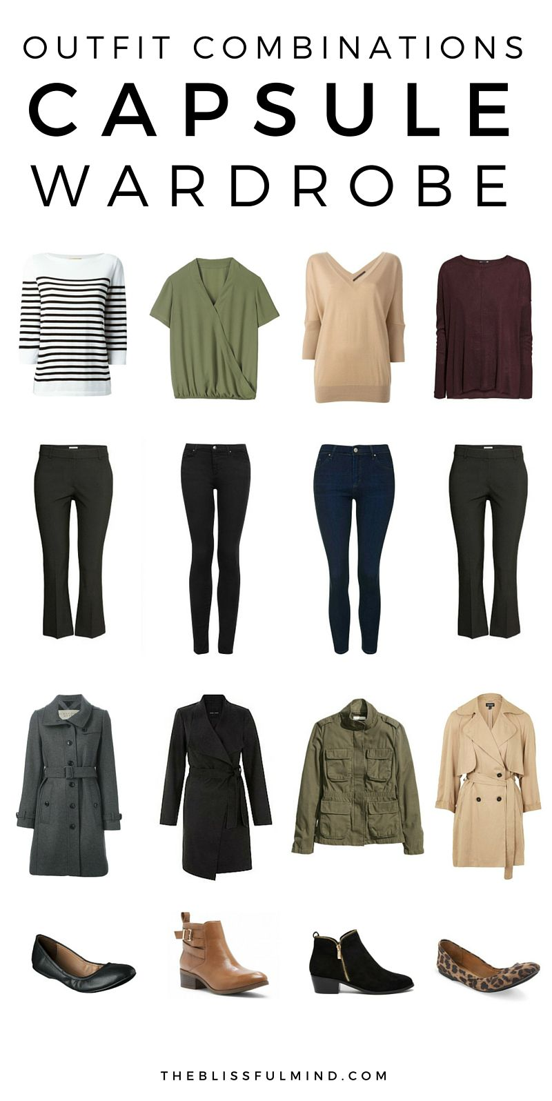 36-Piece Fall Winter Capsule Wardrobe | Outfit combinations To find out and Fall