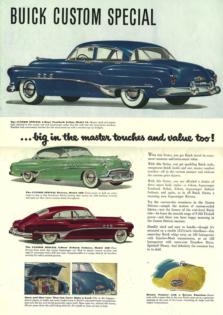 Image 1951 Buick Brochure 1951 Buick Brochure 07 Buick Automobile Advertising Buick Cars