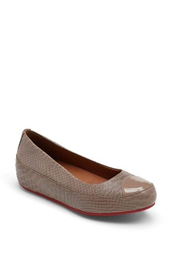 8df67f64701d4c FitFlop  Dué™  Snake Embossed Leather Flat available at  Nordstrom ...