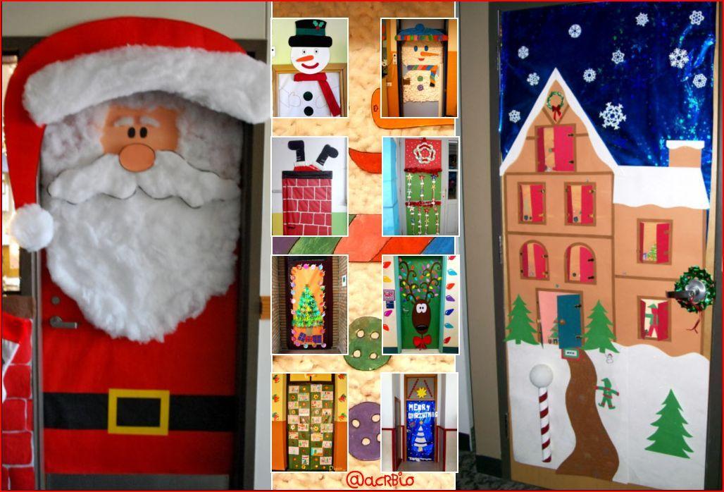 Puertas navide as para nuestras clases navidad puerta - Adornos navidenos para puertas ...