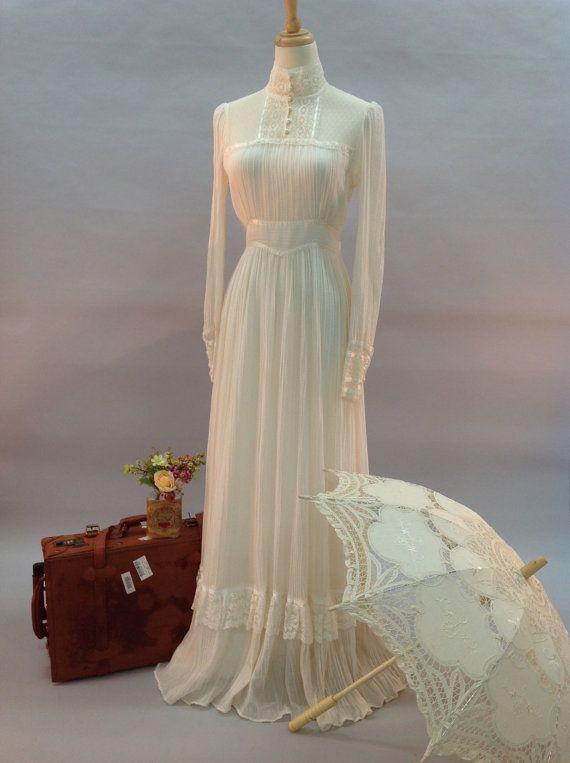 vintage edwardian style gunne sax wedding dress robes de