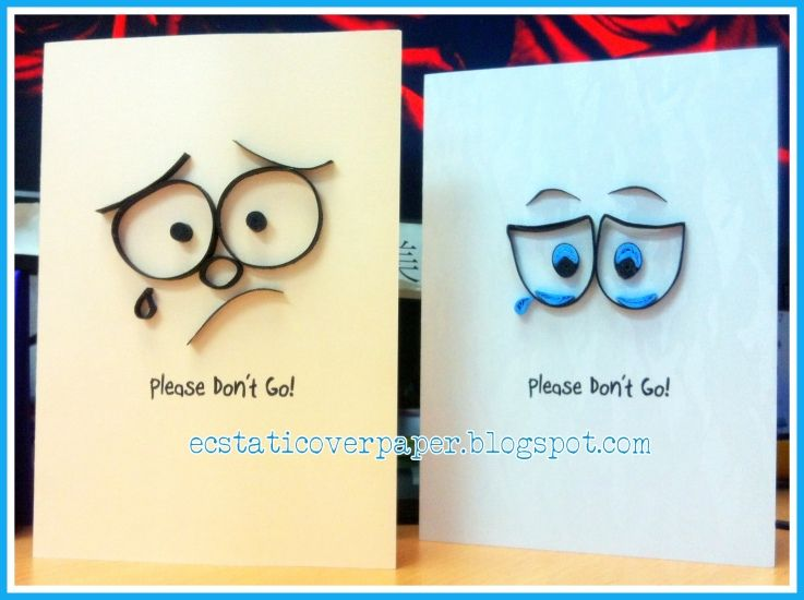 Please Don T Go Farewell Cards Sorry Cards Cards Handmade