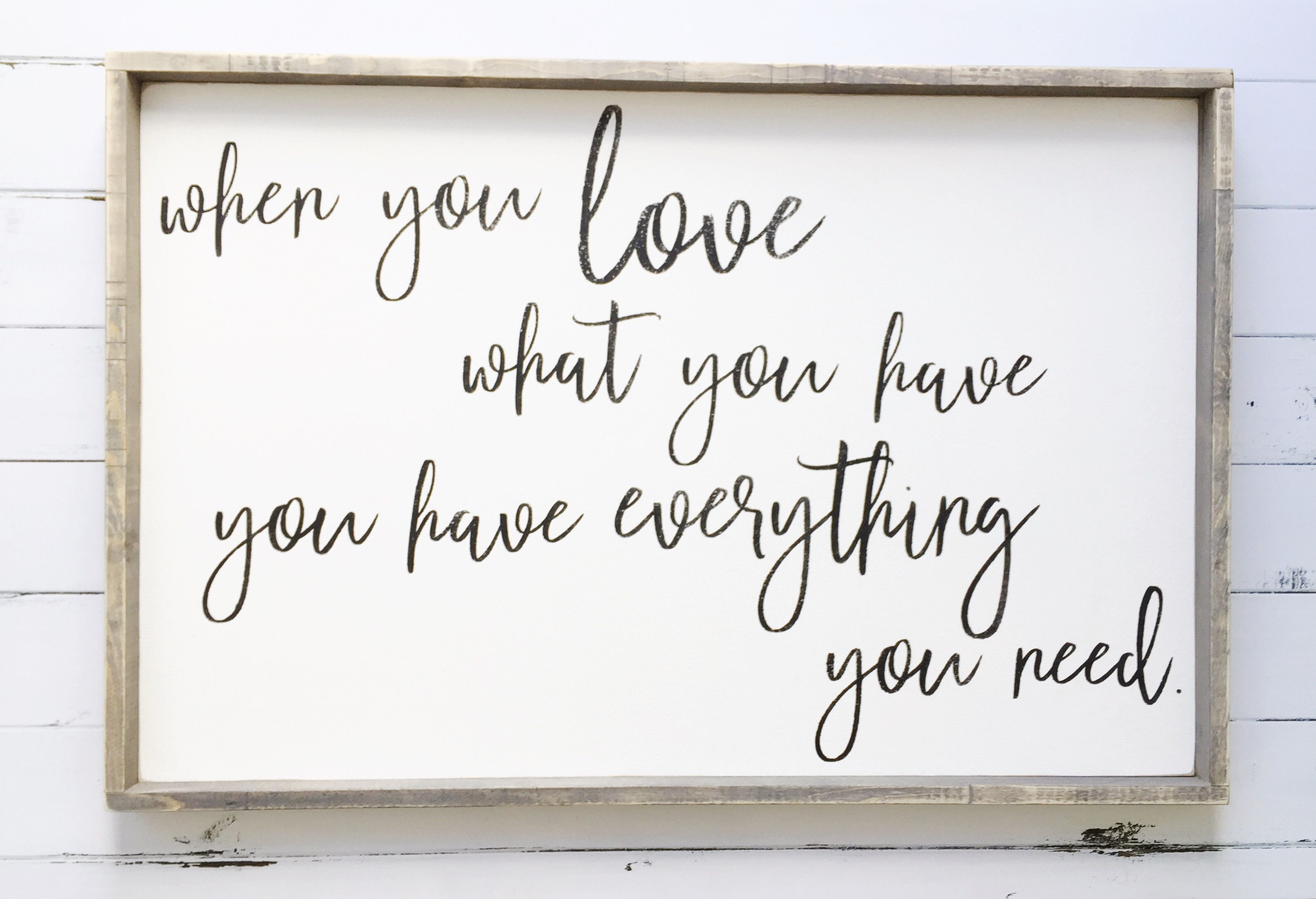 Love what you have   Bedroom Décor   Bedroom Wall Décor ...