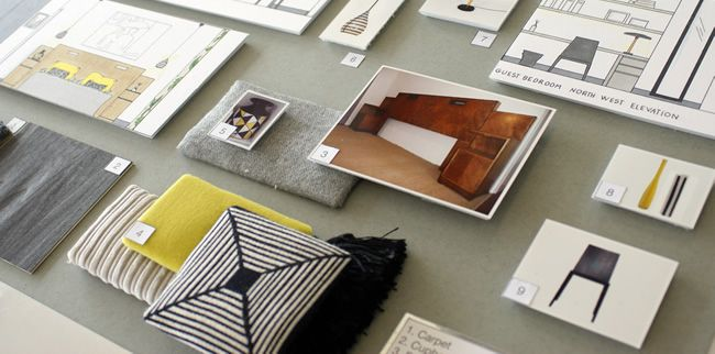 Interior Design Fabric Presentation Boards