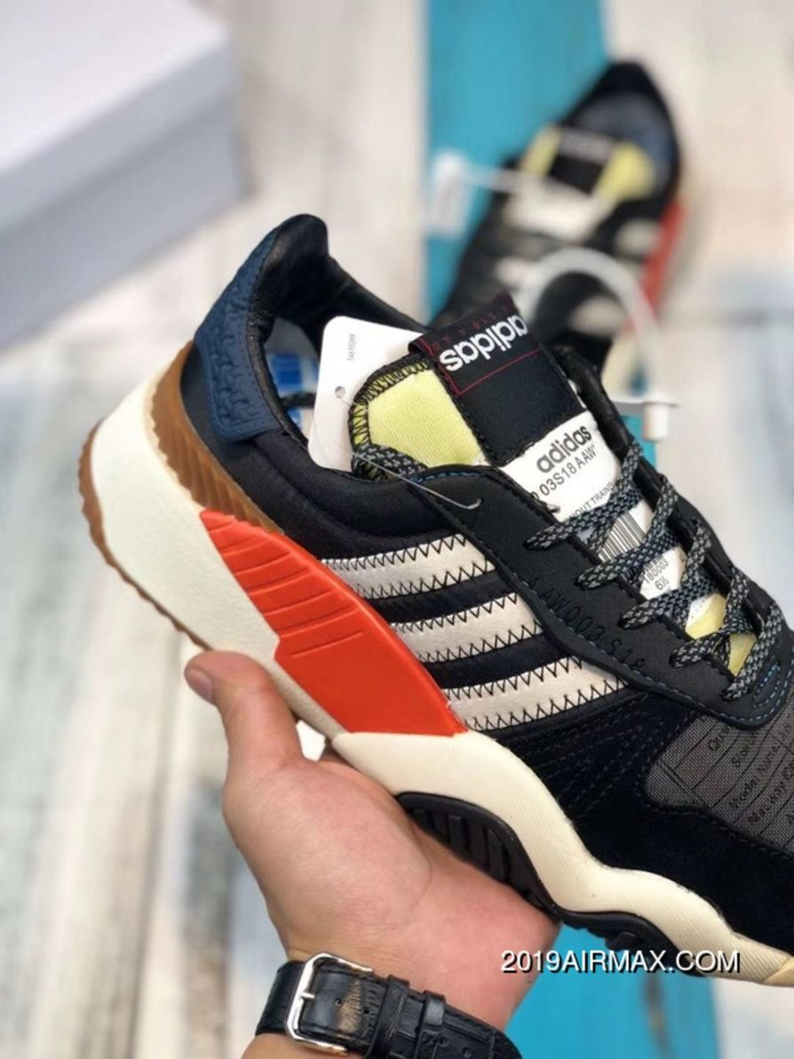 size 40 4adec 154df Adidas Alexander Wang AW Turnout Trainer AQ1237 Daddy Shoes Core Black   Chalk White  Bold Orange Best