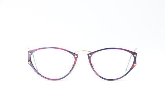 Frauen lila Pink Brille gold Retro Echt Vintage von ClassicalSense