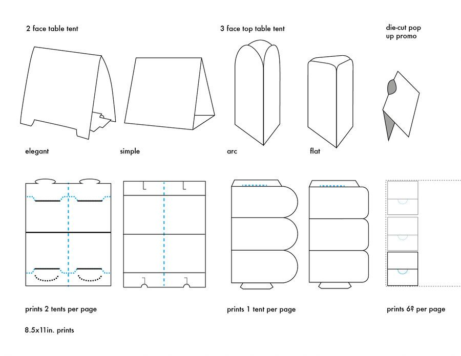 Table Tents Template Types By Carrensoriano Table Tents Tent Cards Table Template