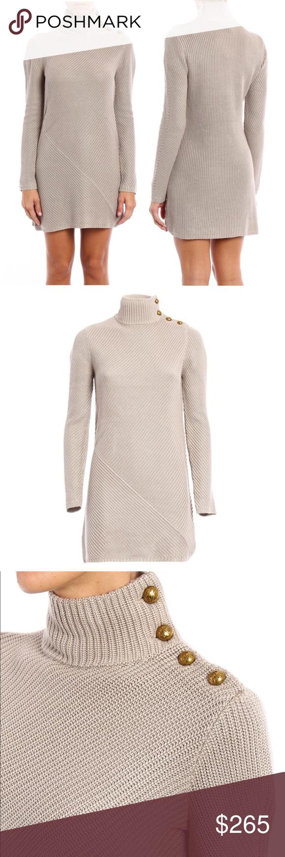 c4a6f817597 Tory Burch Brodie tunic dress Turtleneck collared knit dress 70 viscose 30  acrylic ✨stunning button detail✨ Tory Burch Dresses Mini