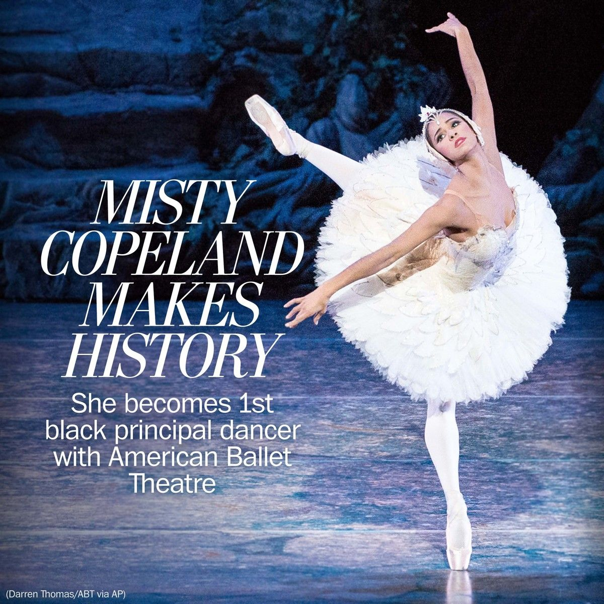 Misty Copeland Makes History As First African American To