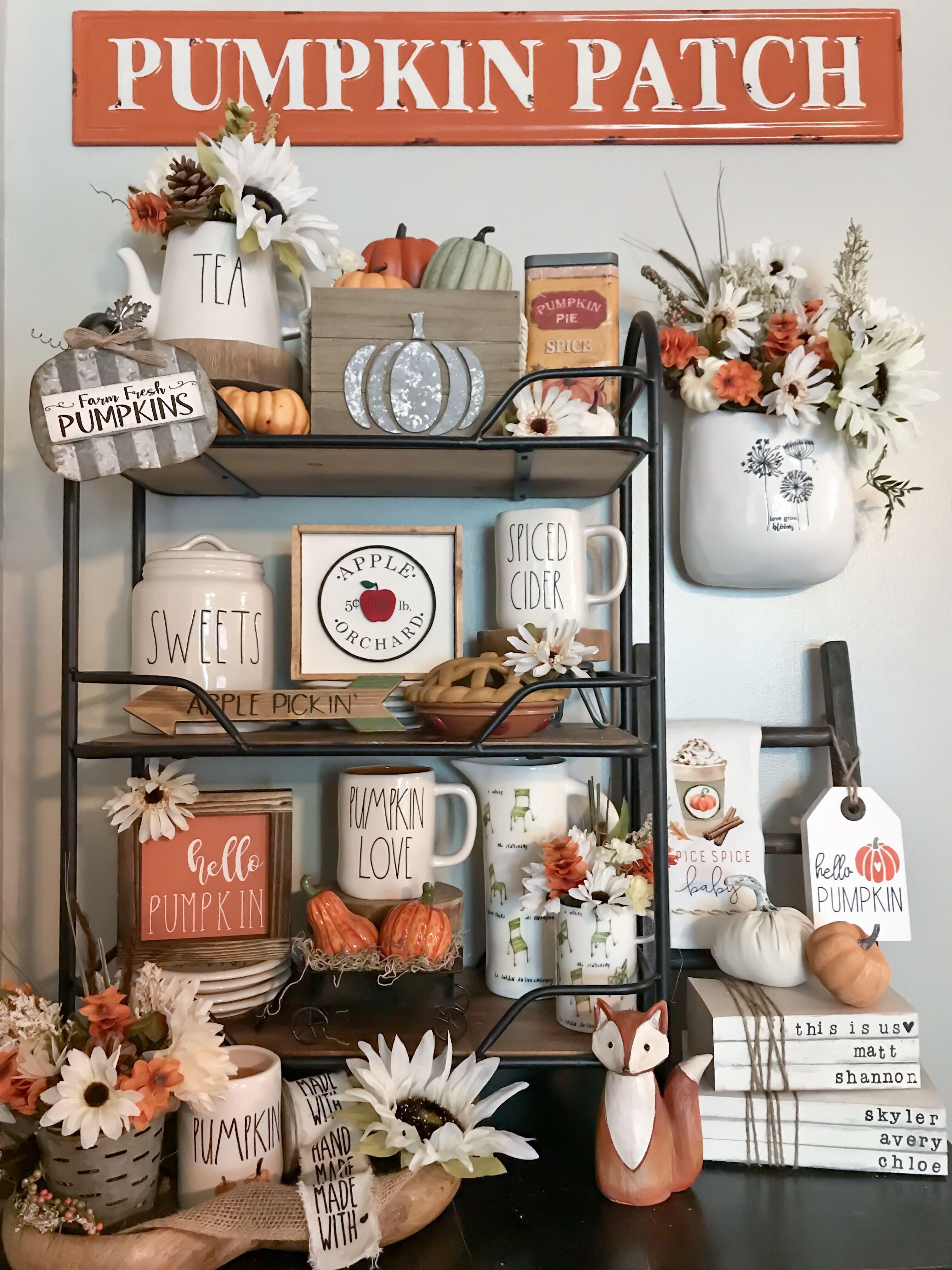 Rae Dunn Fall Display Home Goods Decor Seasonal Home Decor Fall Decor