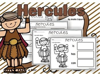 Hercules- Myths- print and go packet can be used at school or home. In this pack you will learn about Hercules myth and characters through the worksheets included in this 25-page pack.Children can:Identify characters, settings, and major events in a story.What happened first, second, and third?Draw and write worksheets about:The story.Retell the story using the story prompt headbands.Use a cootie Catcher game for comprehension.Retell the story including key details.Tree, brace, and bubble…