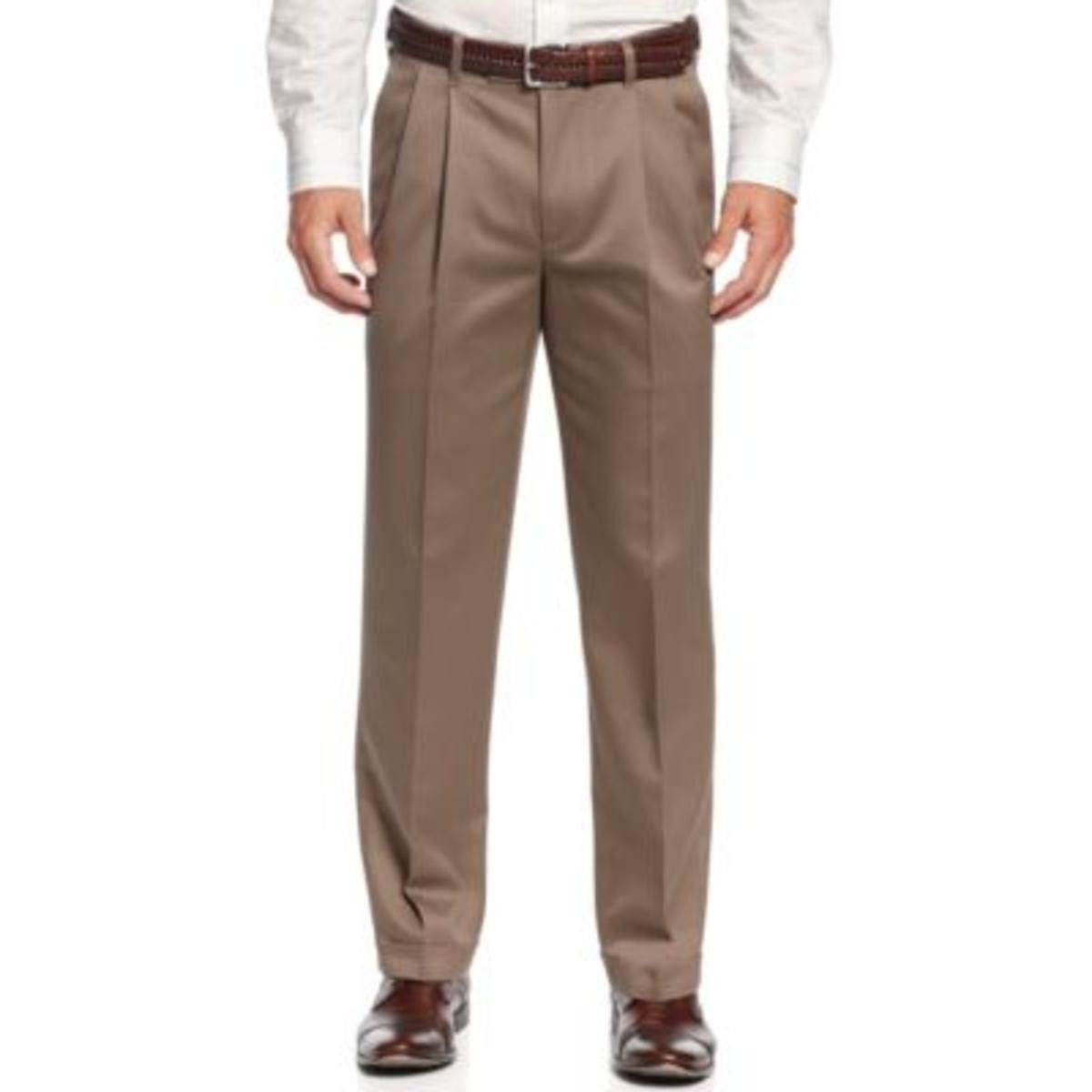 Perry Ellis Mens Non-Iron Tailored Fit Chino Pants