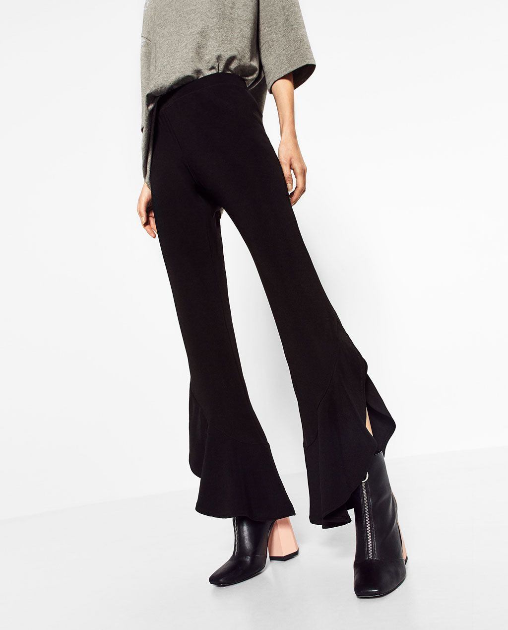 e85c55d0 Image 2 of FRILLED HEM TROUSERS from Zara | Styling+Modeling ...
