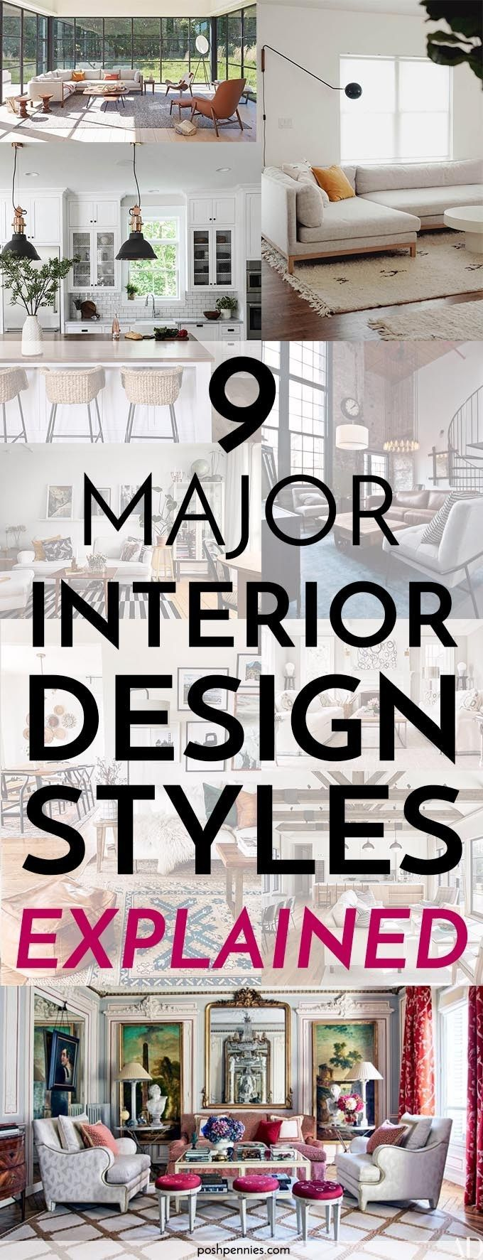 Interior Design Styles For Beginners: 9 Popular Styles Explained | Posh Pennies