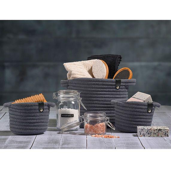 Zone Denmark Roll Storage Basket Small Sand | bathstore | badkamer ...