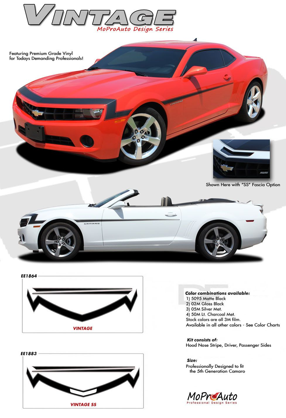 2010 2011 2012 2013 Camaro COUPE LS LT SS RS Super Sport Rally Decal Stripes Kit