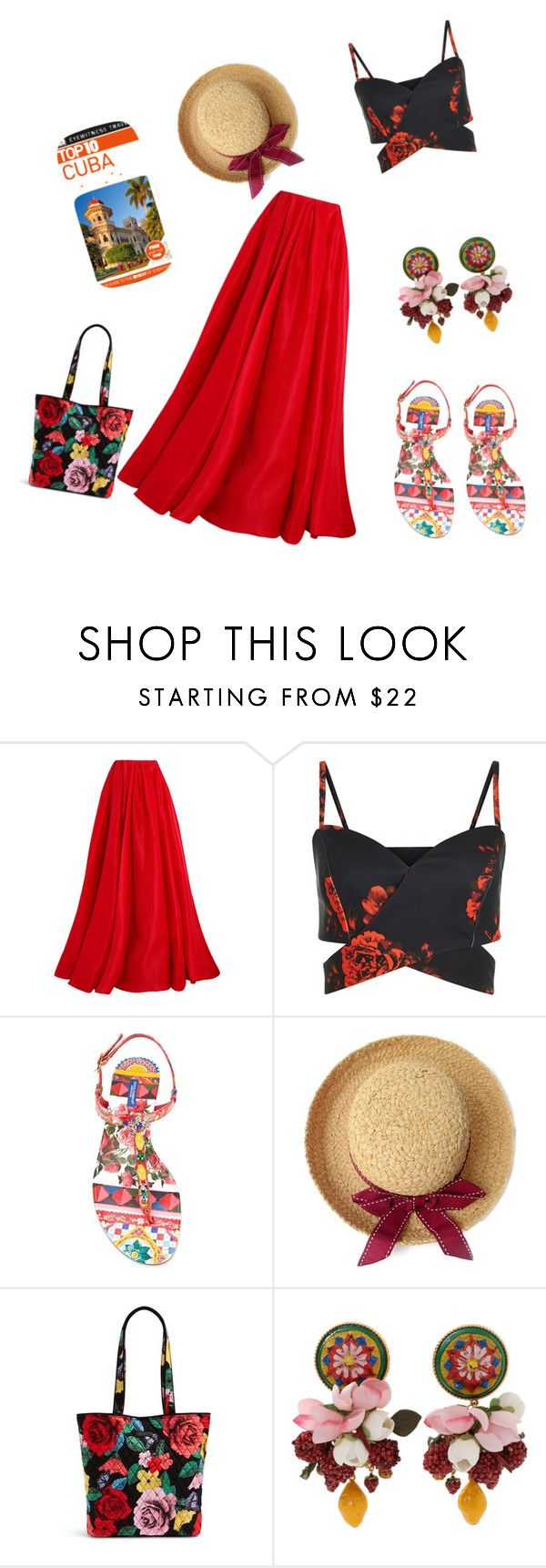 """""""cuba"""" by nelissatimothee ❤ liked on Polyvore featuring DK, Reem Acra, Dolce&Gabbana and Vera Bradley"""