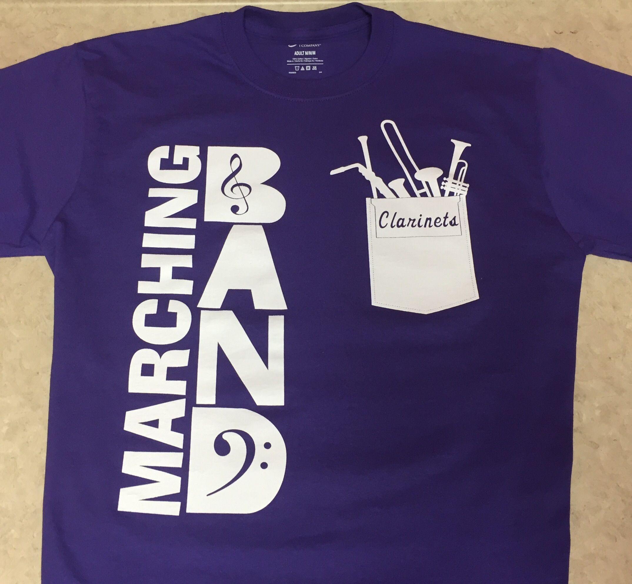 Ozark high school marching band clarinets music for High school band shirts