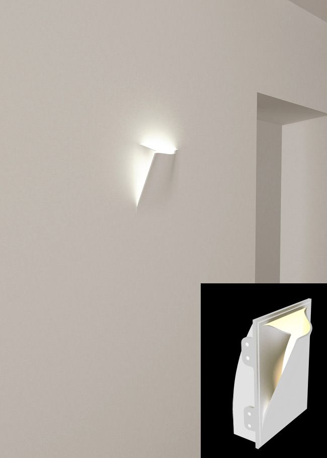 Wall Sconce Embedded Directly Into The Wall Can Be Plastered Over And Painted With Wall Paint So It Becomes Part Of The Wall Its Wall Lights Wall Sconces Wall