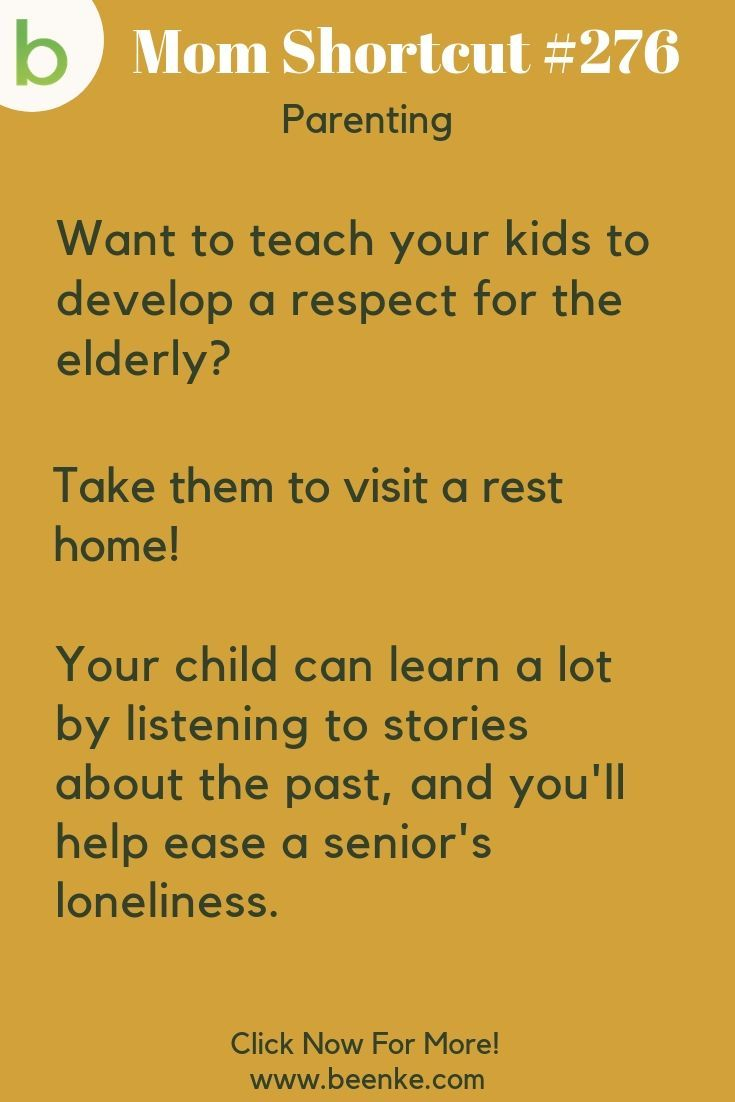 Parenting Tricks #276: How to teach your kids to develop a respect for the elderly. Positive parenting tips and advice. CLICK NOW to discover more Parenting Hacks. #beenke #MomShortcuts #MomHacks #LifeHacks #ParentingHacks #Parenting