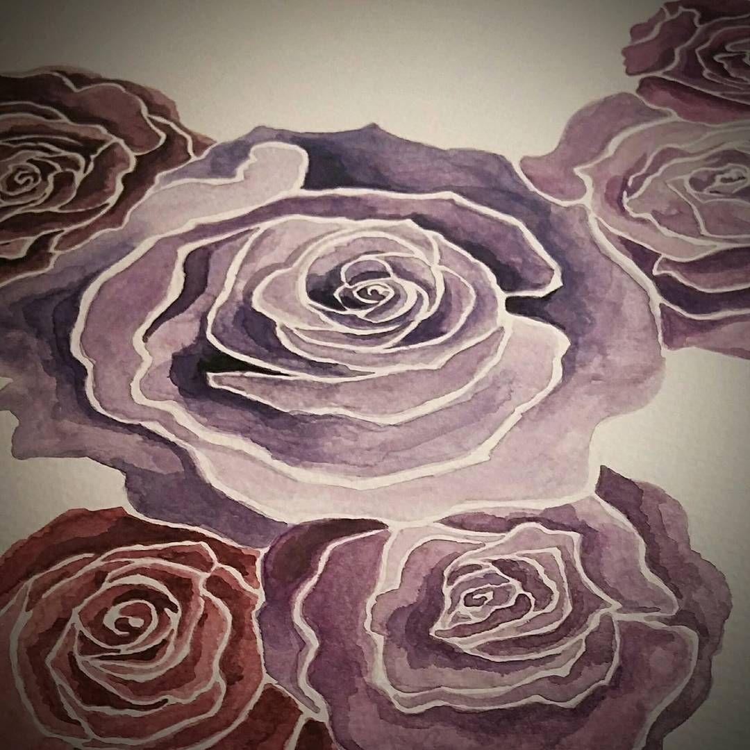 #roses🌹 #watercolor #aquarellart #illustrationart #aquarelle #rosepainting #artwork #colorart #rosen #flowers #flowerpainting