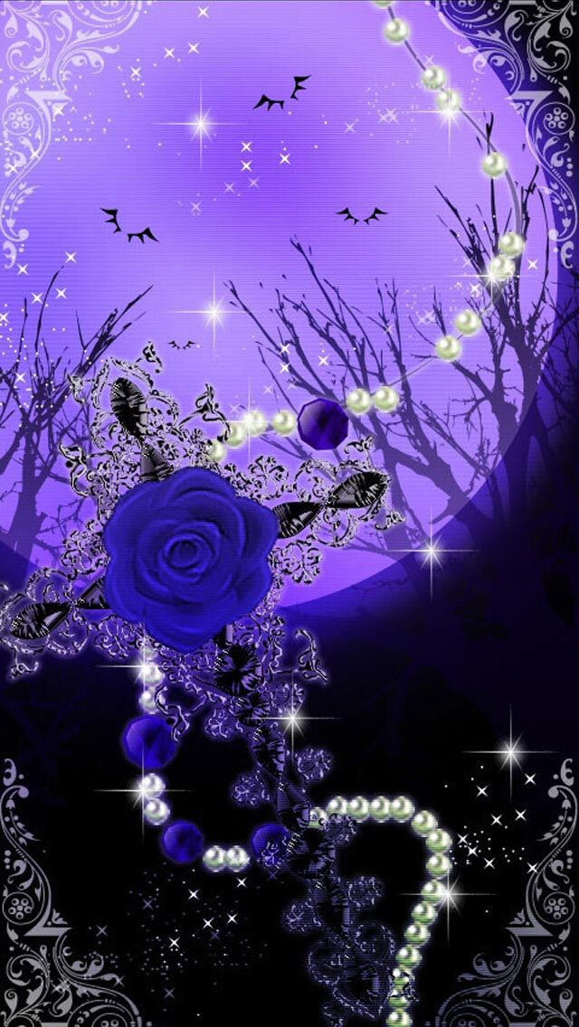 Purple moon wallpaper by artist unknown phone - Purple moon wallpaper ...