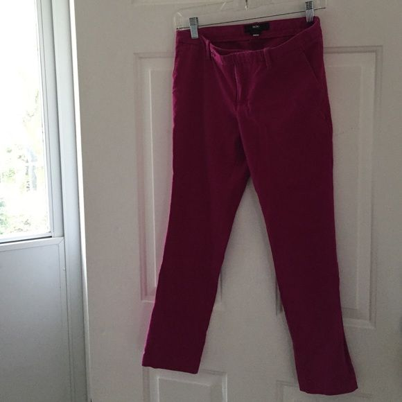 Cropped magenta chinos Fun color, cropped magenta chinos by Mossimo. Hit just before ankle for me and I'm 5'4. Cotton and spandex. Mossimo Supply Co Pants Capris