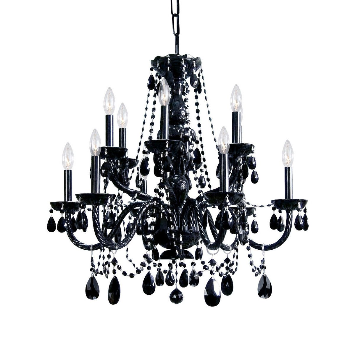 Crystal chandelier black home ideas pinterest chandeliers bed crystal chandelier black aloadofball Gallery