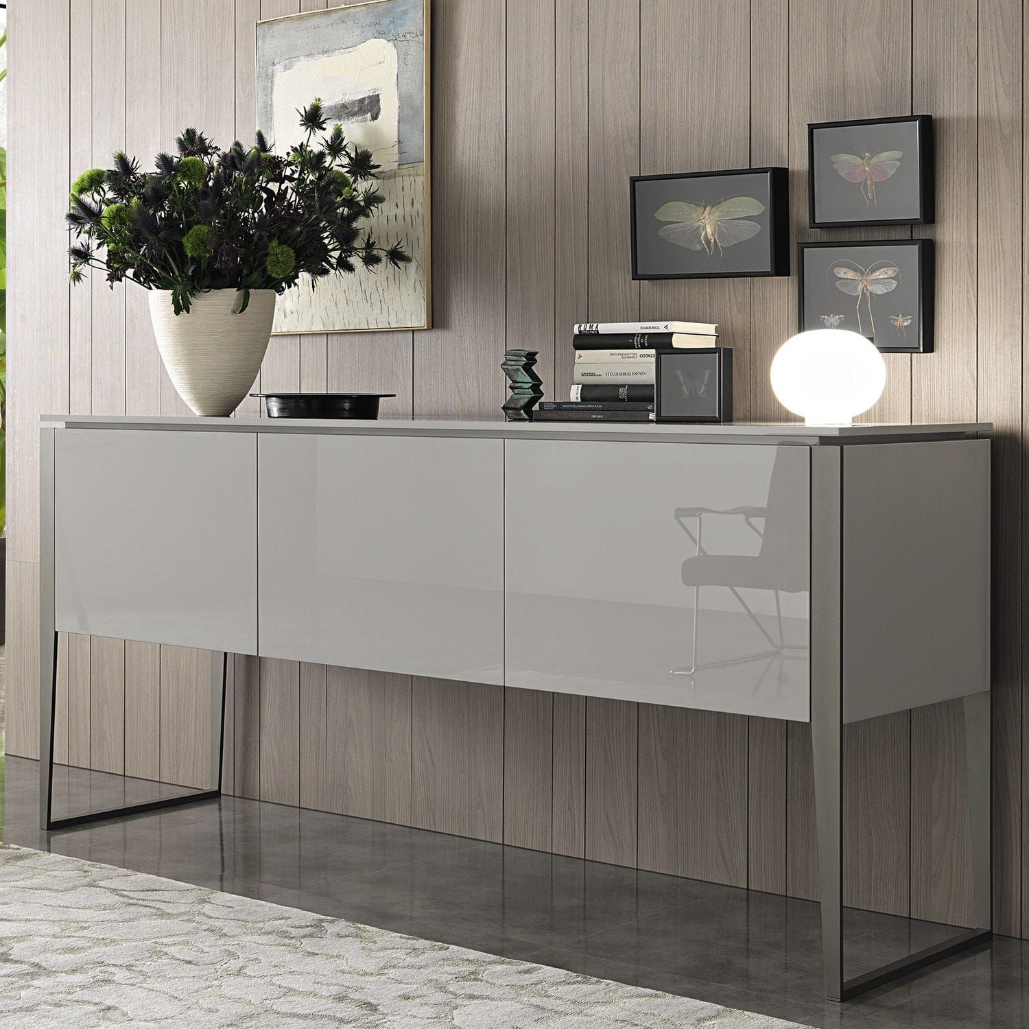 Hochbeinig Sideboard Modern Holz Lackiertes Holz Nibbio By  # Muebles Lema Rosario