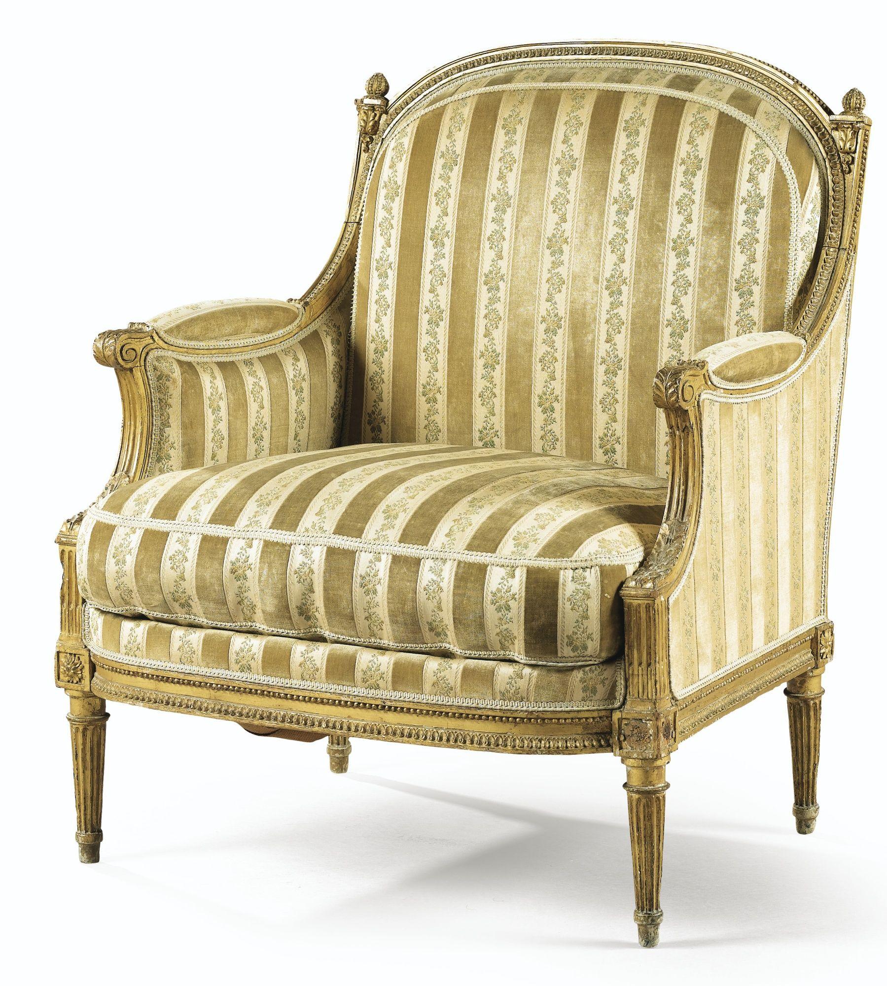marquise dossier plat en bois sculpt et dor d 39 poque louis xvi estampill e h jacob lot. Black Bedroom Furniture Sets. Home Design Ideas