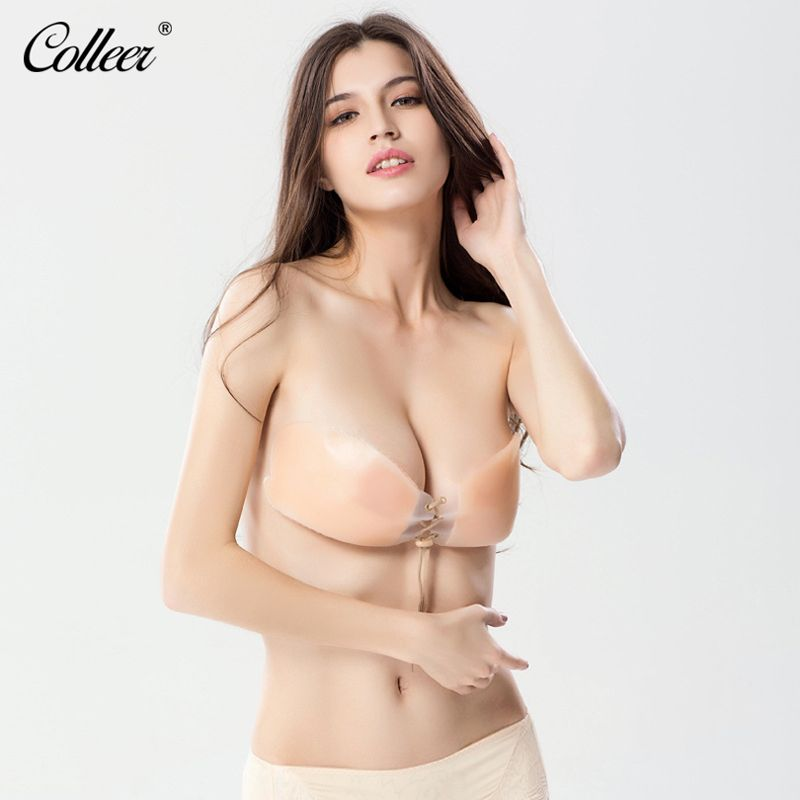 e98d41c608087 COLLEER New Sexy Push up Seamless Bra Adhesive Silicone Backless Wedding  Bralette Strapless Invisible Women Underwear