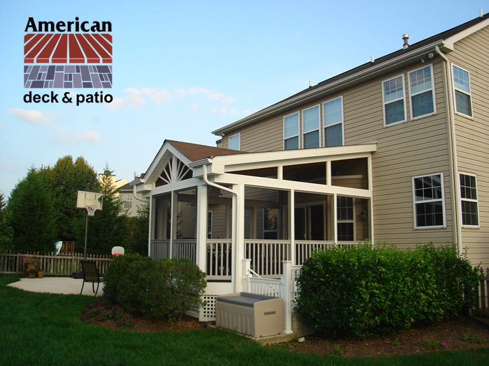 Cross Gable Style Roof Beautiful Screened Porch Enclosure Vinyl