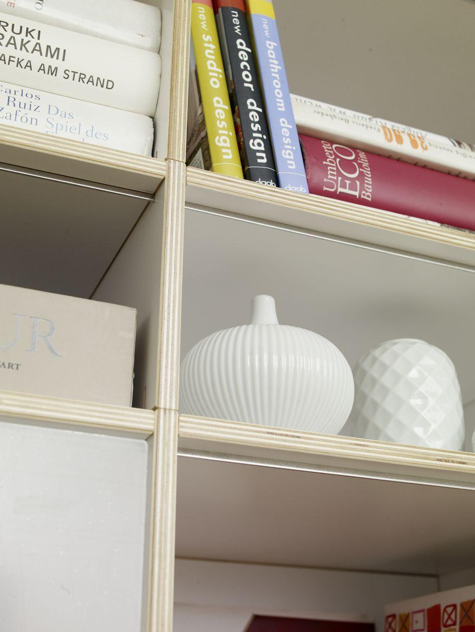 Wohnregal weiß // Shelf white www.regalsystem-rio.de | Wohnregale ...