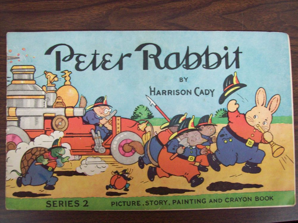 Harrison cady peter rabbit coloring book 1922 original and complete ...