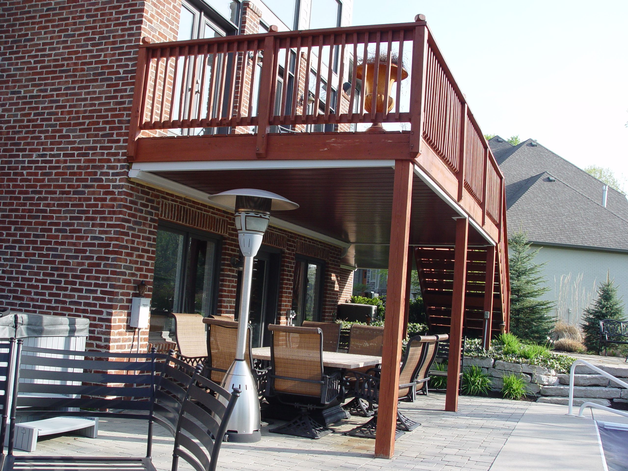 Indiana Under Deck Ceiling System Installed North Of