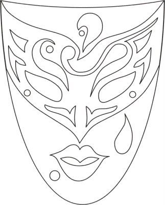 masque coloriage 64gif - Masque Colorier