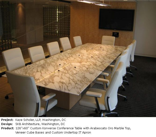 Custom Stone Conference Table With An IT Apron Prismatique Tables - Stone conference table