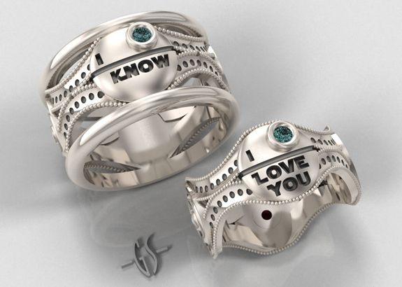 Wolf Wedding Band Mtv Geek Master The Force With These Star Wars Engagement Rings
